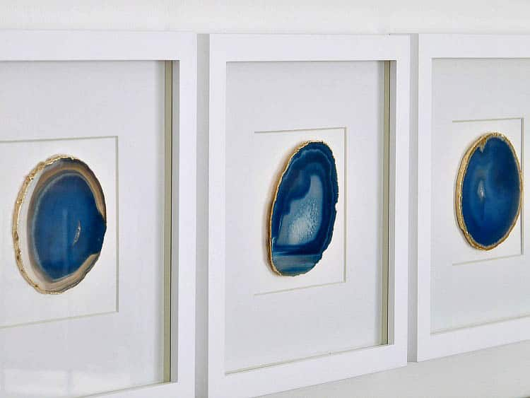 DIY Agate Art via dans-le-townhouse.blogspot.ca