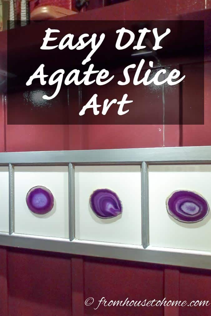 Easy DIY Agate Slice Art - Complete step by step instructions for making your own (easy) stunning artwork