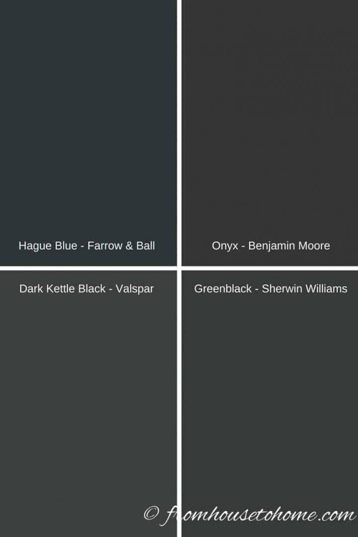 Different black paint colors