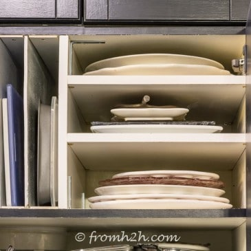 DIY Over The Refrigerator Cabinet Organizer