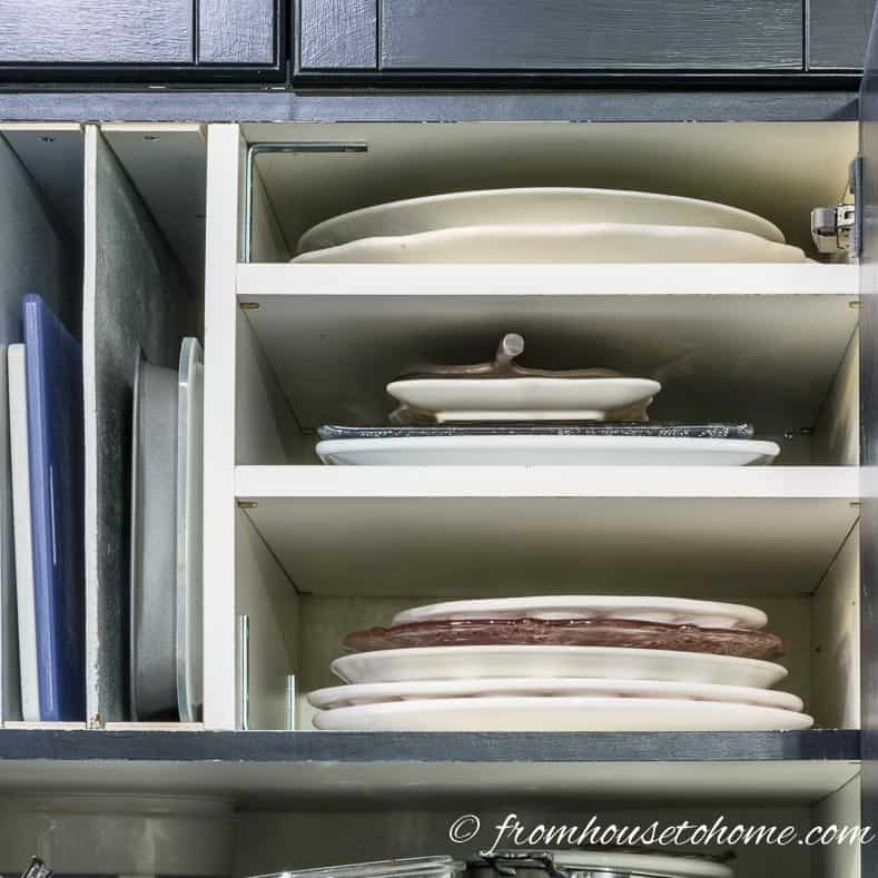 DIY Over The Refrigerator Cabinet Organizer