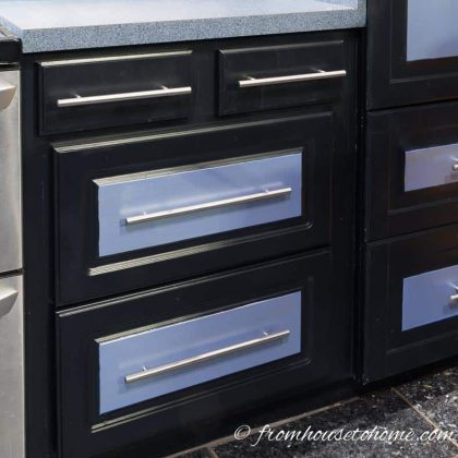 The finished drawers