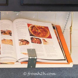 DIY Under Cabinet Cookbook or iPad Shelf