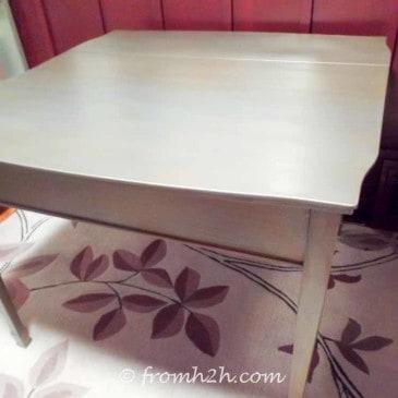 Urban Table Makeover Using Metallic Paint