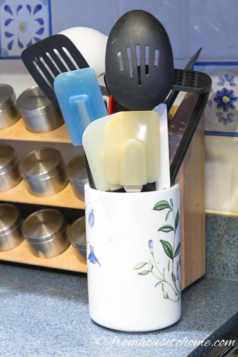 Diy Cooking Utensils Rotating Storage Rack