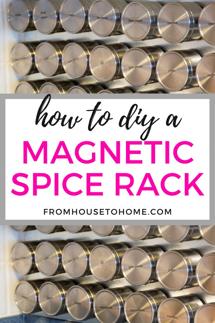 how to diy a magnetic spice rack