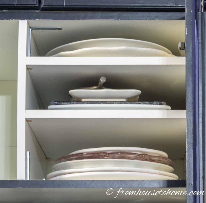 The over the refrigerator storage shelves