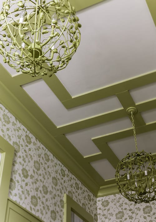 The inspiration for the ceiling mouldings from Houzz.com | How To Make Craftsman Style Mouldings