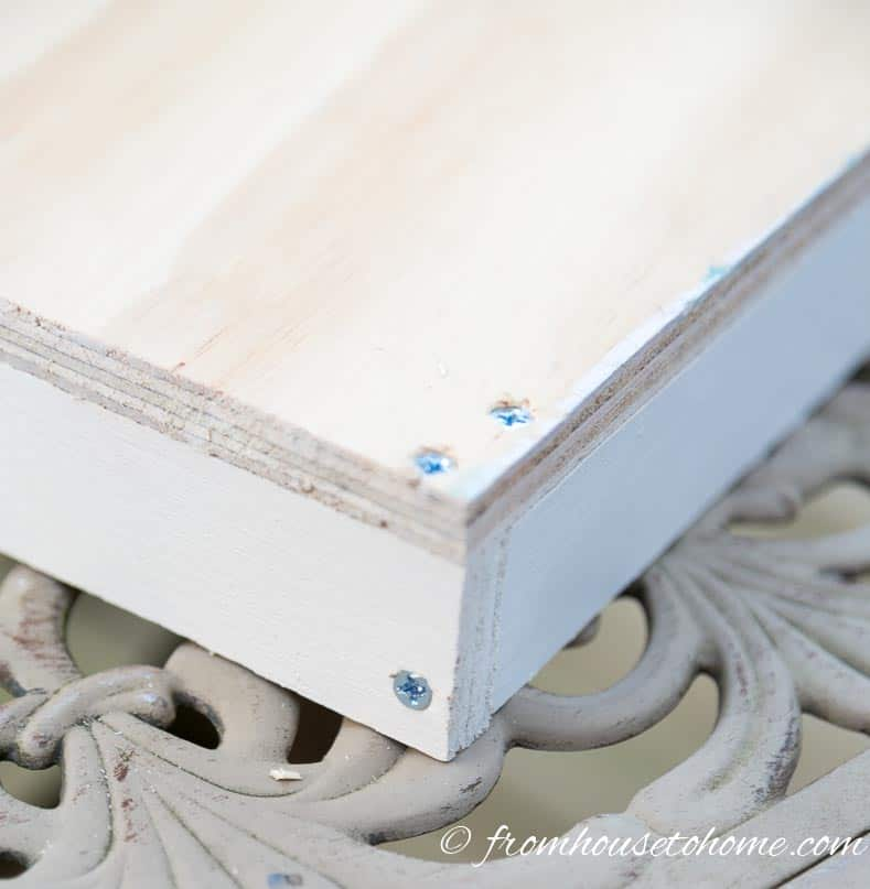 Attach the front and back boards to the sides | How To Build Blind Corner Cabinet Pull Out Shelves