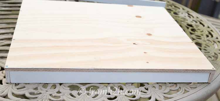 Attach the side boards | How To Build Blind Corner Cabinet Pull Out Shelves
