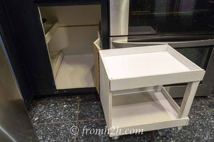 blind corner cabinet pull out how to build pull out shelves for a blind corner cabinet 12456