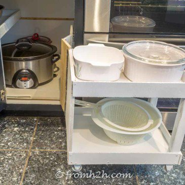 How To Build Pull Out Shelves for a Blind Corner Cabinet, Part 2
