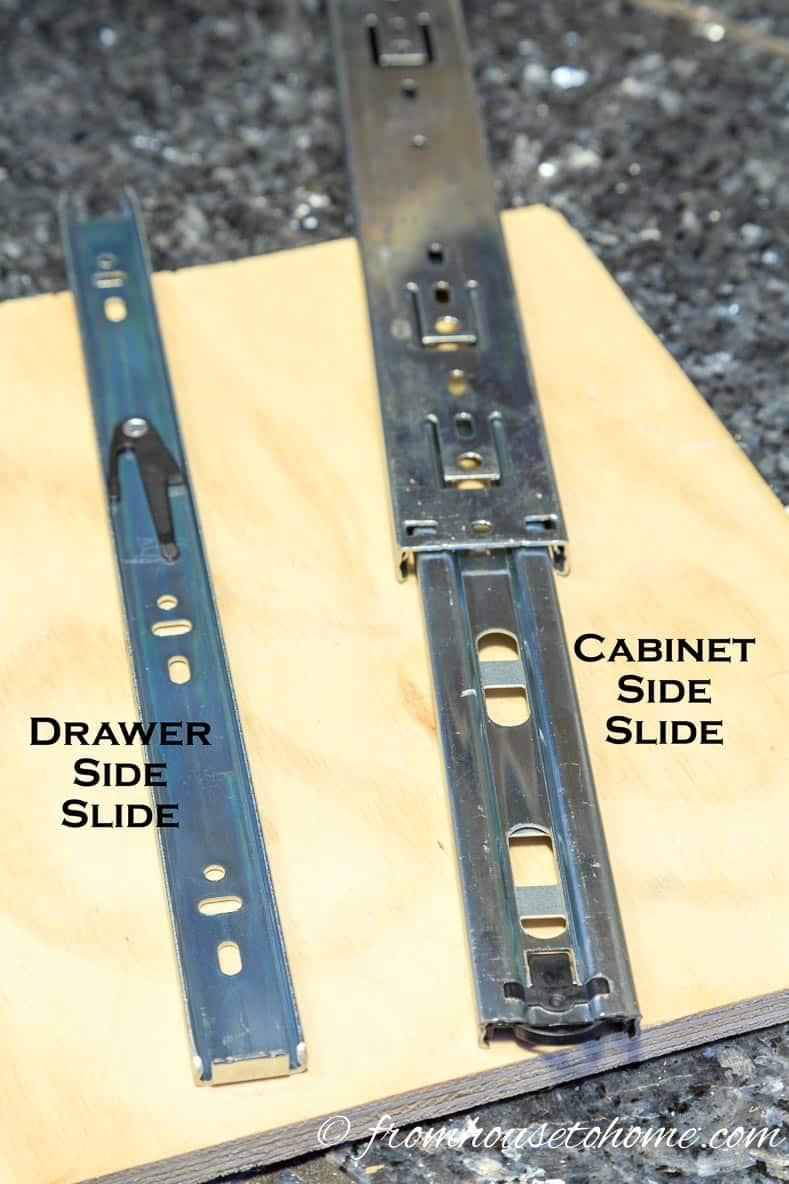 The separated drawer slide