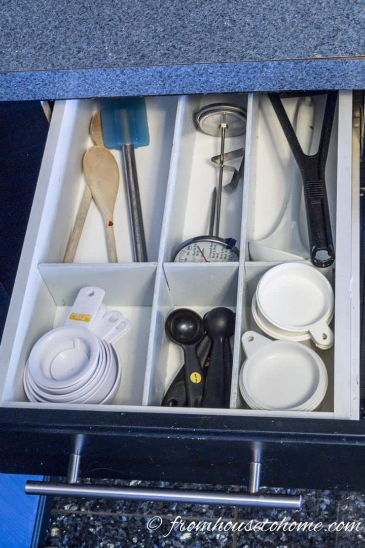 Custom wood DIY kitchen drawer dividers