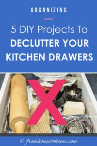 5 DIY projects to declutter your kitchen drawers