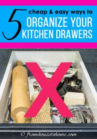 5 cheap and easy ways to organize your kitchen drawers