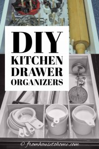 DIY projects to organize your kitchen drawers