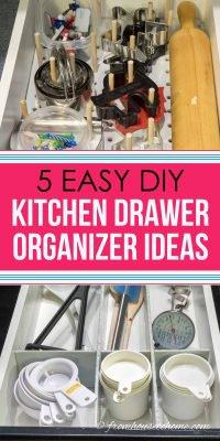 Easy DIY kitchen drawer organizer ideas