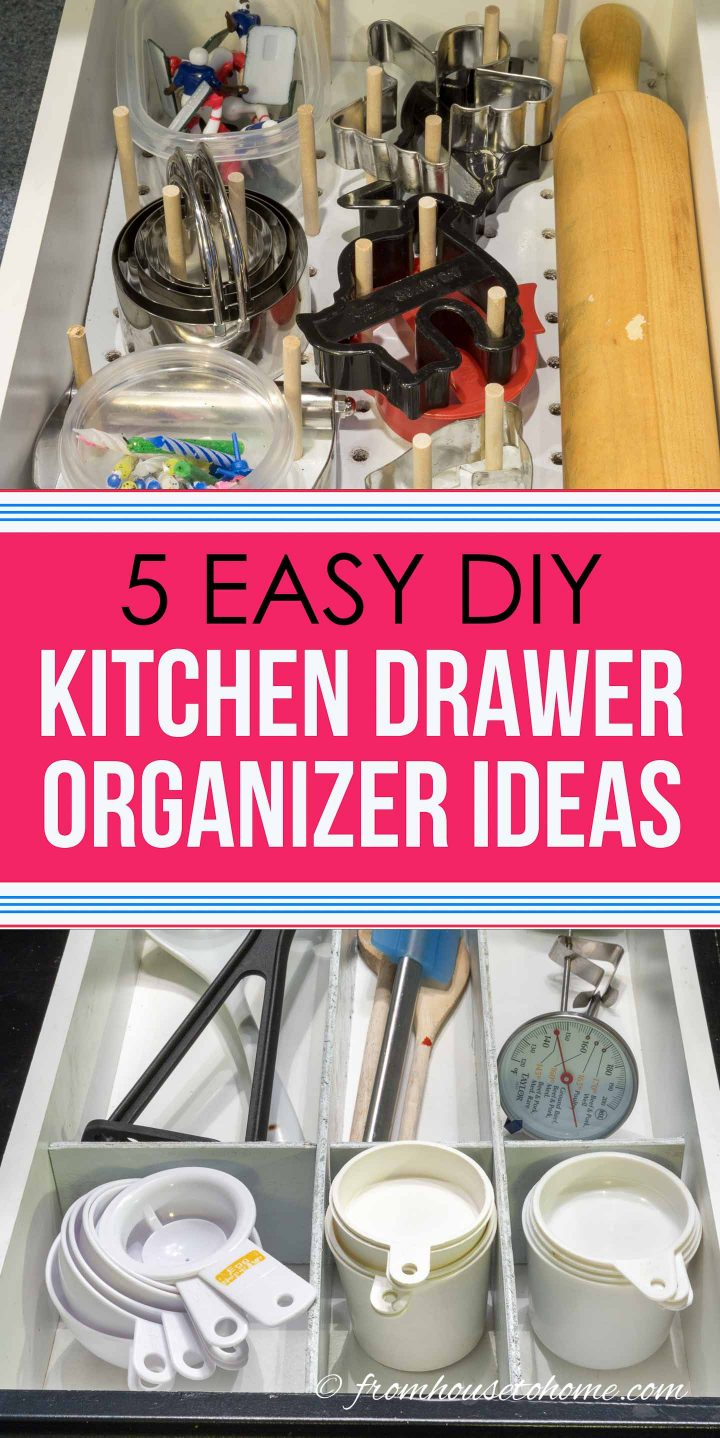 Easy DIY kitchen drawer organizer ideas