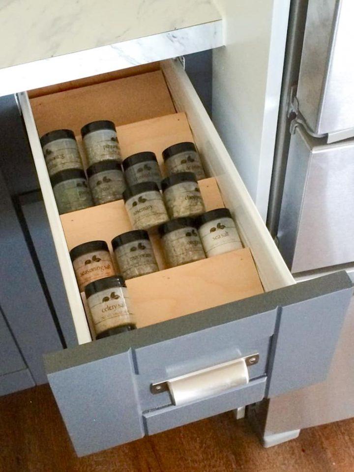 DIY Drawer Spice Rack by ana-white.com