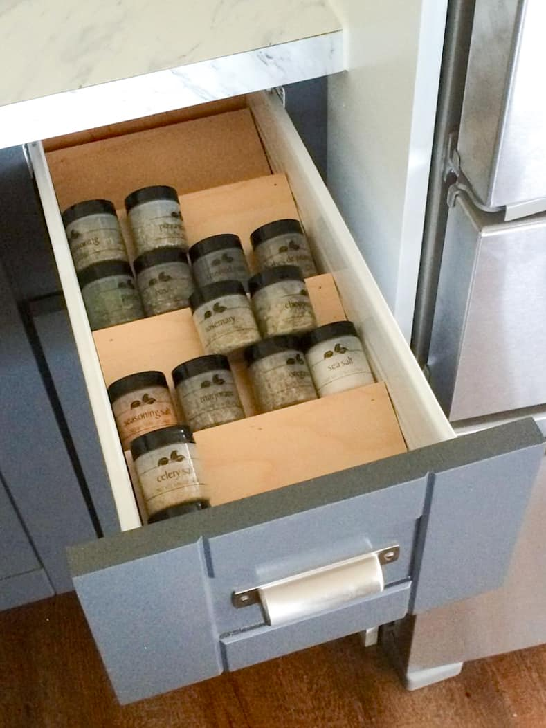 DIY Drawer Spice Rack by ana-white.com