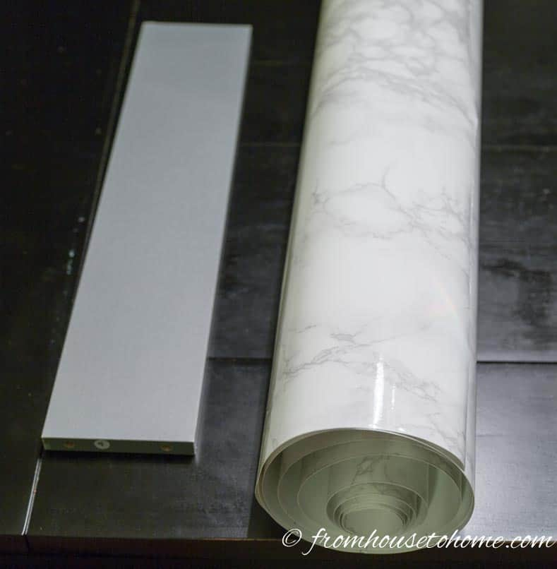 Marble contact paper and board | DIY Faux Marble Table