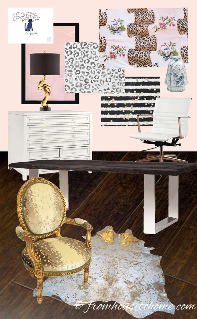 Home Office Mood Board | One Room Challenge Week 2 - Home Office Mood Board (and the first set back)