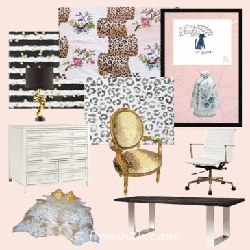 One Room Challenge Week 2 – Home Office Mood Board (and the first setback)