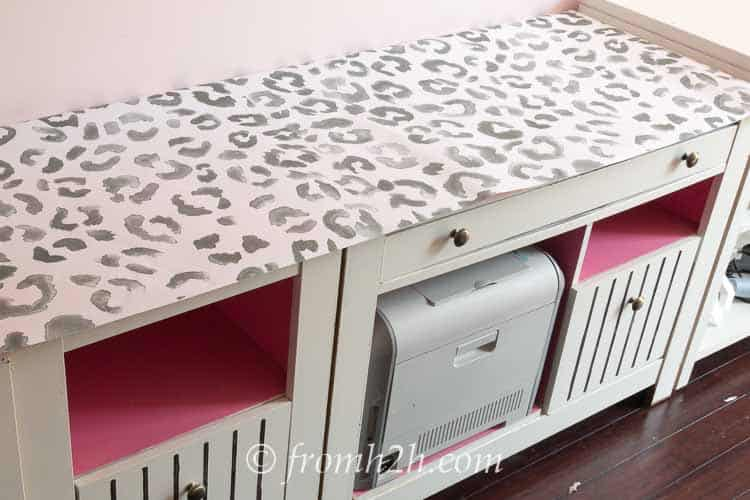 Leopard print top   One Room Challenge Week 3 Home Office Makeover: Distracted by Spring (and some painting)