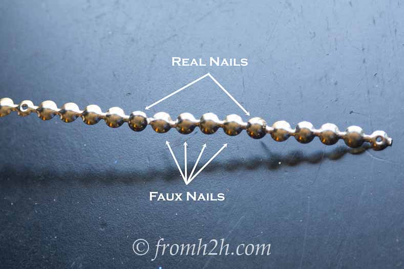 Nail head trim on a strip | How To Install Nail Head Trim In a Straight Line With Even Spacing