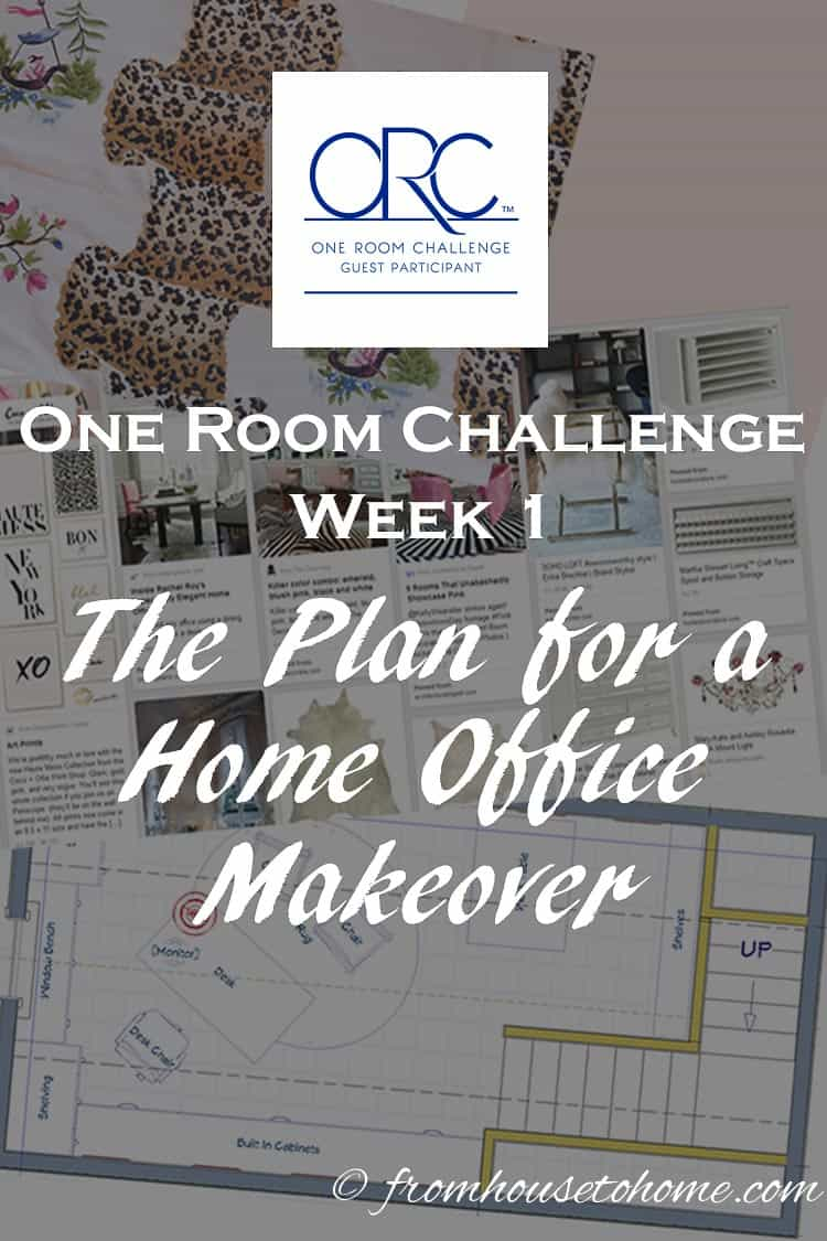 One Room Challenge Week 1 - The Plan For a Home Office Makeover