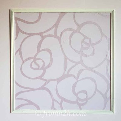 Panel moldings with wallpaper