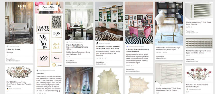 My Home Office Makeover Pinterest board | One Room Challenge Week 1 - The Plan For a Home Office Makeover