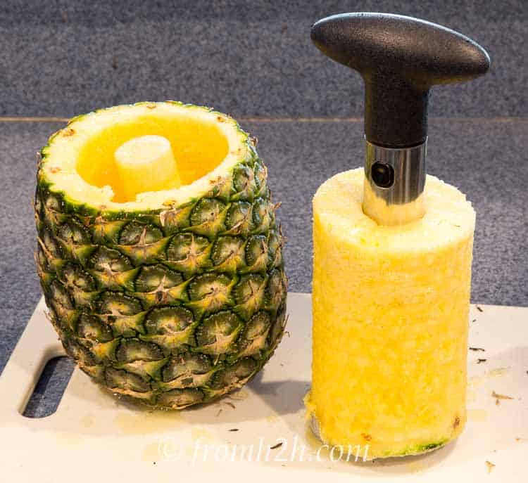 Pull out the cored and sliced pineapple | Inexpensive Kitchen Gadgets That Make Cooking Easier