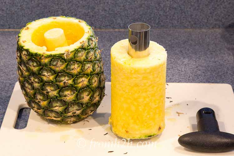 Take the handle off the pineapple slicer | Inexpensive Kitchen Gadgets That Make Cooking Easier