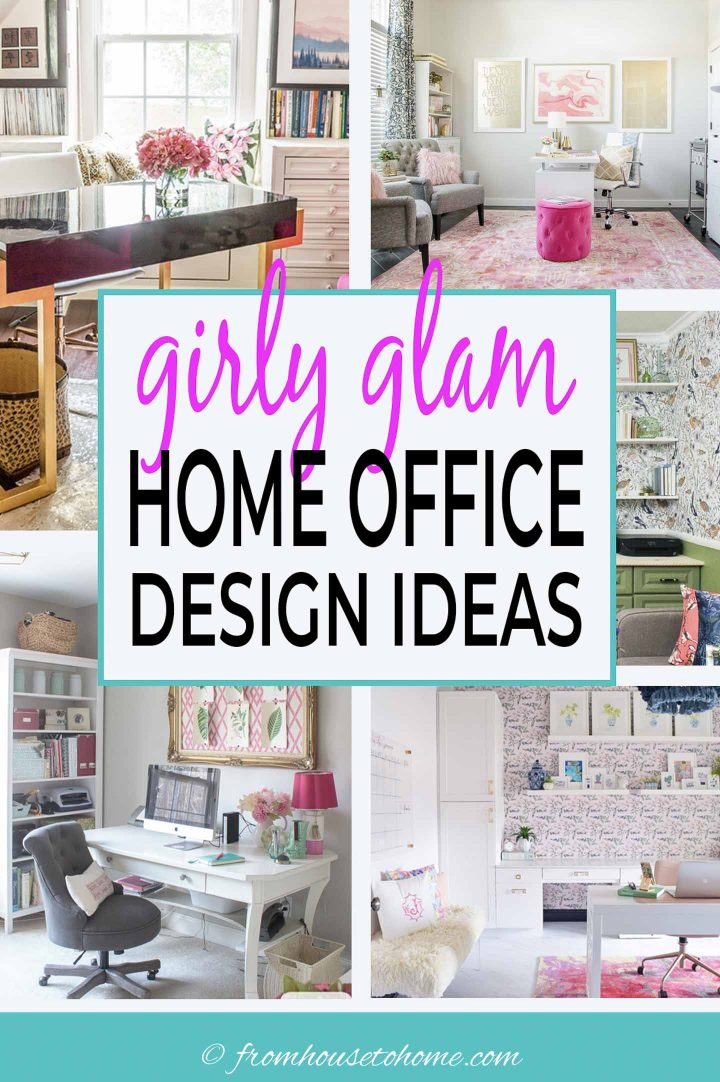 Girly glam home office ideas