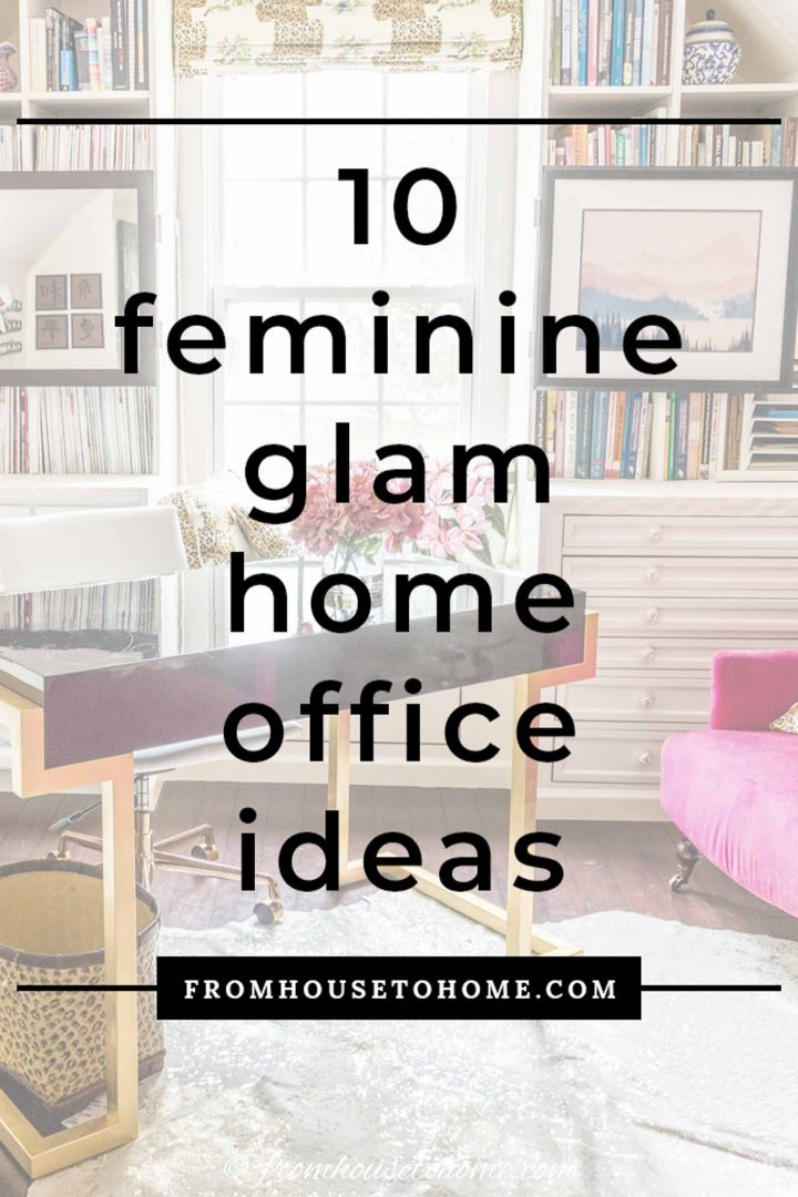feminine glam home office ideas