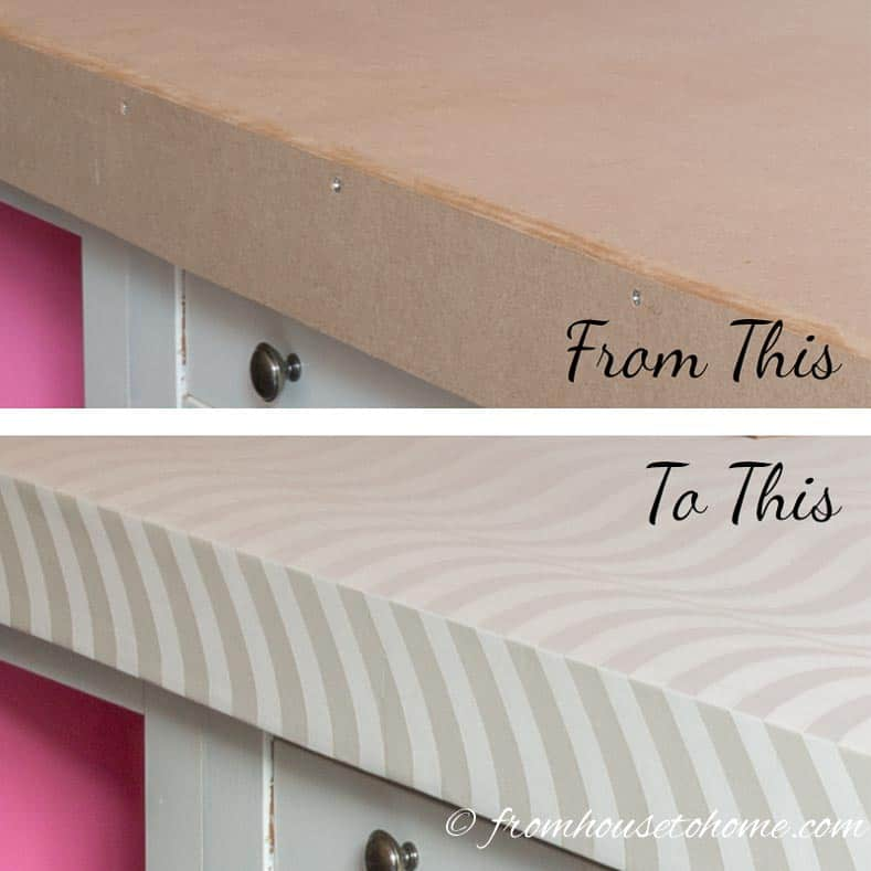 "The ""Before"" and ""After"" countertop 
