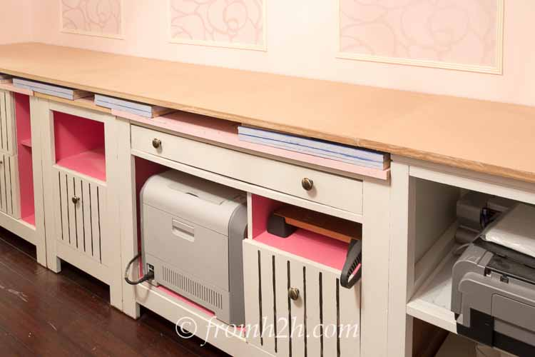 Complete the top of the countertop | How To Create Built Ins From Mismatched Furniture