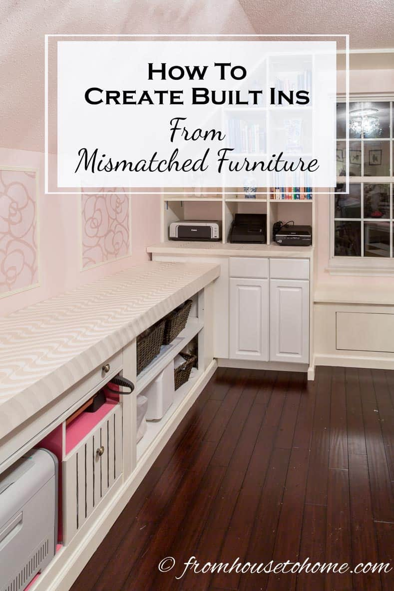 How To Create Built Ins From Mismatched Furniture