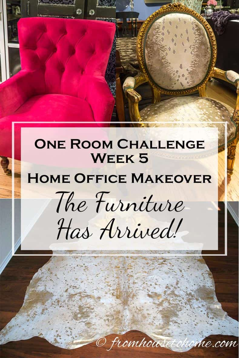 One Room Challenge Week 5 Home Office Makeover: A DIY Countertop (and it feels like my birthday!)