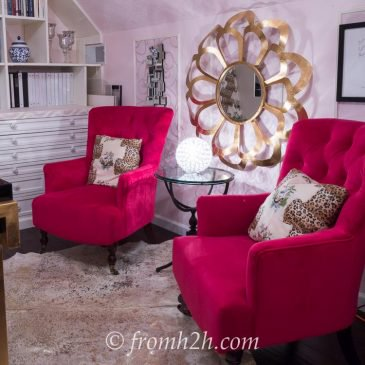One Room Challenge Week 6: Feminine Glam Home Office Makeover