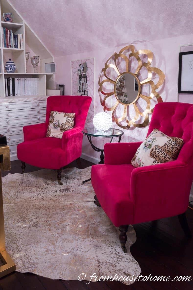 The fuchsia chairs