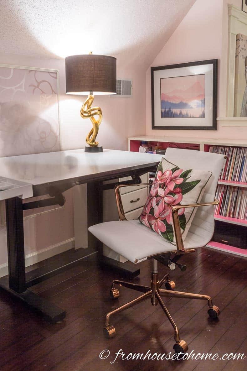 One Room Challenge Week 6 Feminine Glam Home Office