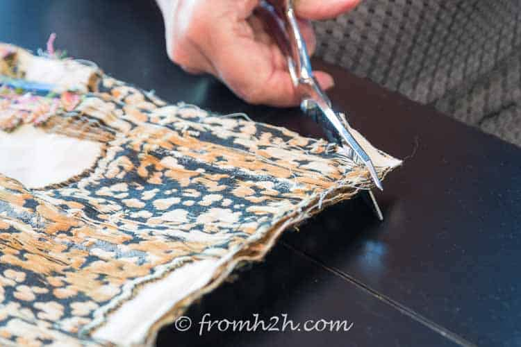 Cut the corners of the fabric | How to Make Cushion Covers Like a Pro