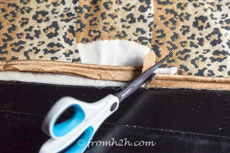 Cut the piping cord so that it matches the other end | How to Make Cushion Covers Like a Pro