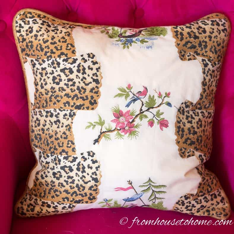 Decide what pattern you want to have on the front | How to make cushion covers like a pro