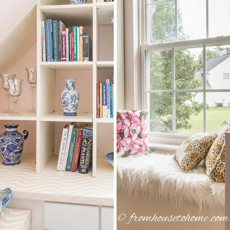 DIY Bonus Room Bookshelves And Window Bench