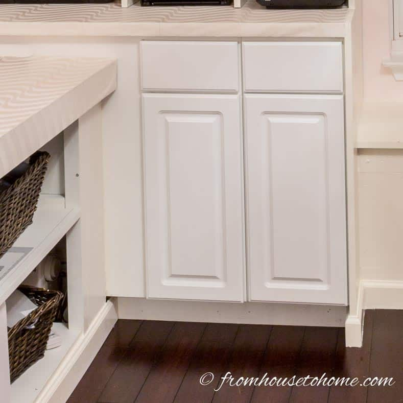 Install base cabinets | DIY Bonus Room Bookshelves And Window Bench