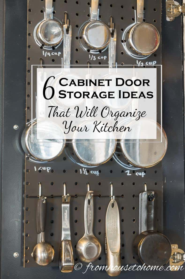 6 cabinet door storage ideas that will organize your kitchen - Make cabinet scratch extra storage space ...